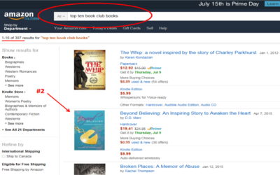 "Author D.D. Marx's Book, 'Beyond Believing' Is Trending Number Two in ""Top Ten Book Club Books"" on Amazon (August 3, 2015)"