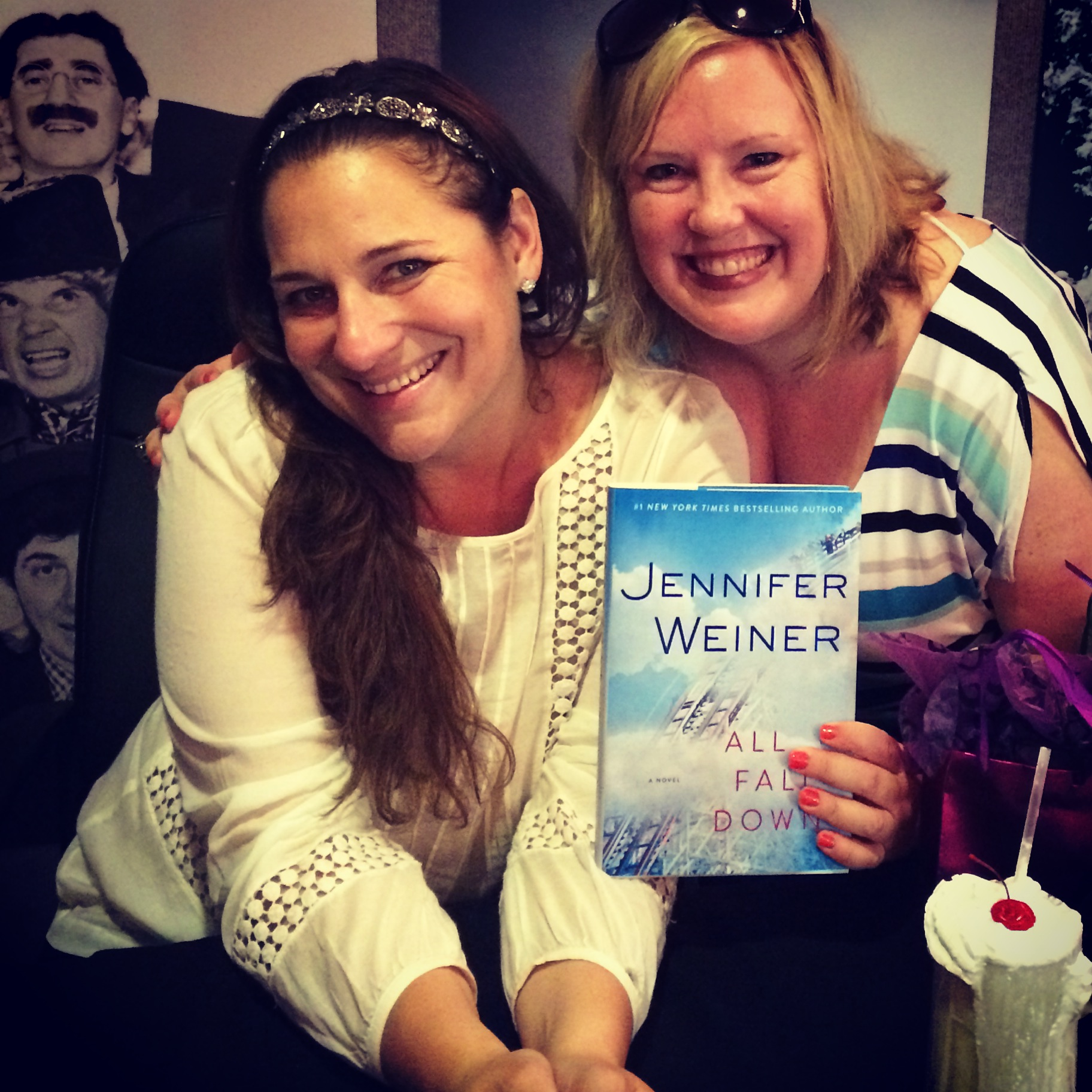d.d. marx at Jennifer Weiner Book Signing